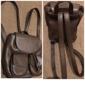 Brown mini backpack. (New)